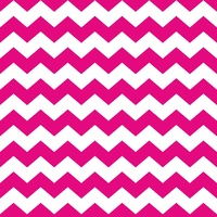 Print, Hot Pink and White Chevron (One meter)