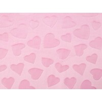 Light Pink Hearts Embossed Minky